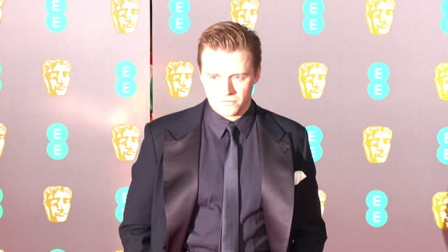 jack lowden on red carpet at bafta film awards 2020 - formal stock videos & royalty-free footage
