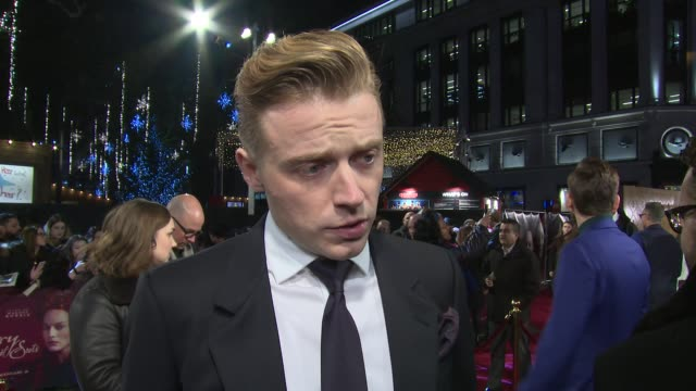 Jack Lowden on the Scotland England divide Margot Robbie and other fellow cast at Cineworld Leicester Square on December 10 2018 in London England