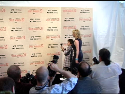 "jack madsen and virginia madsen, winner best supporting female for ""sideways"" at the 20th annual independent spirit awards press room at santa monica... - virginia madsen stock videos & royalty-free footage"