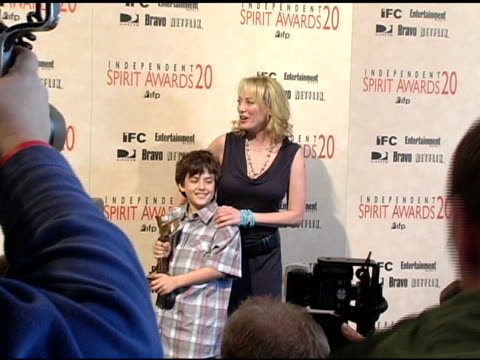 "jack madsen and virginia madsen winner best supporting female for ""sideways"" at the 20th annual independent spirit awards press room at santa monica... - virginia madsen stock videos & royalty-free footage"