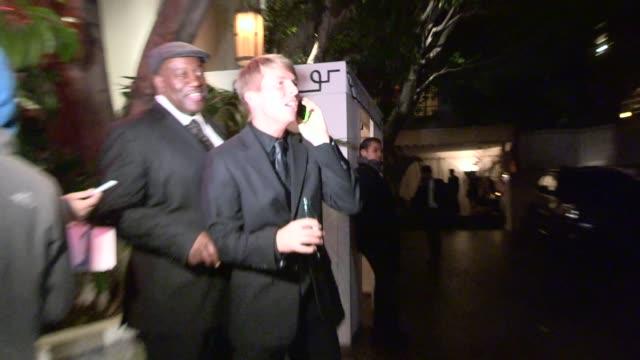 vídeos y material grabado en eventos de stock de jack mcbrayer departing the 2014 golden globe after party at chateau marmont in west hollywood in celebrity sightings in los angeles - jack mcbrayer