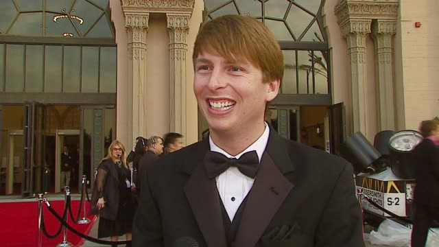 vídeos y material grabado en eventos de stock de jack mcbrayer of '30 rock' on the show dealing with fans his choice for favorite movie at the 2007 people's choice awards arrivals at the shrine... - jack mcbrayer