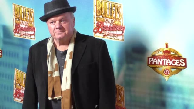 jack mcgee at the bullets over broadway premiere at pantages theatre in hollywood - celebrity sightings on january 05, 2016 in los angeles,... - パンテージスシアター点の映像素材/bロール