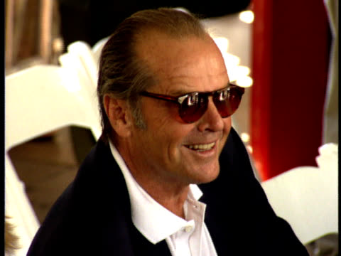 jack nicholson at michael douglas' handprint and footprint ceremony. - jack nicholson stock videos & royalty-free footage