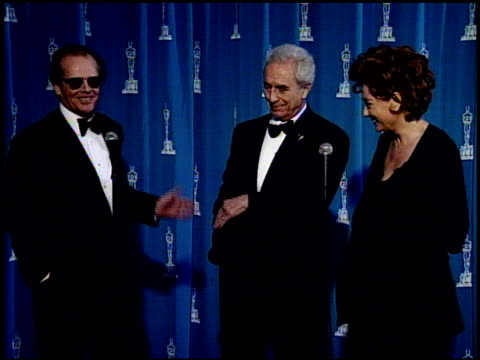 jack nicholson at the 1995 academy awards at the shrine auditorium in los angeles, california on march 27, 1995. - jack nicholson stock videos & royalty-free footage