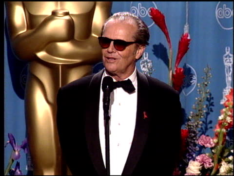 jack nicholson at the 1998 academy awards at the shrine auditorium in los angeles, california on march 23, 1998. - jack nicholson stock videos & royalty-free footage