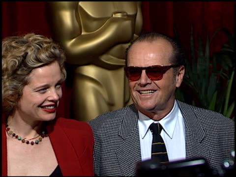 jack nicholson at the 1998 academy awards luncheon arrivals at the beverly hilton in beverly hills, california on march 9, 1998. - jack nicholson stock videos & royalty-free footage