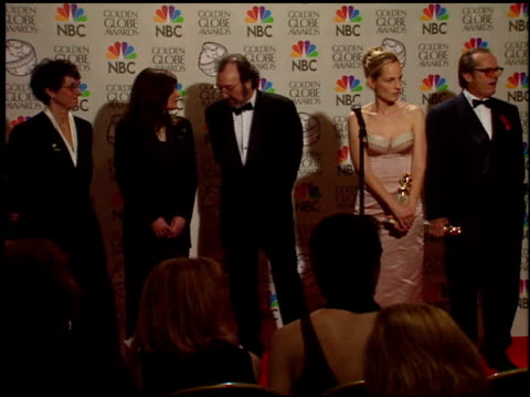 jack nicholson at the 1998 golden globe awards at the beverly hilton in beverly hills, california on january 18, 1998. - jack nicholson stock videos & royalty-free footage