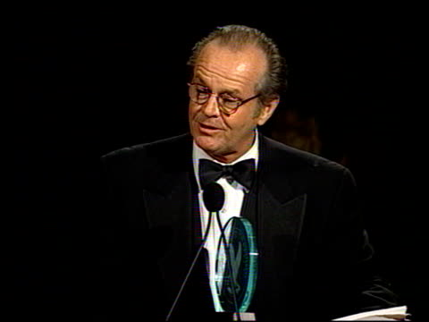 jack nicholson at the directors guild awards show at the century plaza hotel in century city, california on march 8, 1997. - jack nicholson stock videos & royalty-free footage