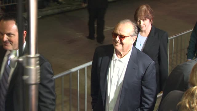 stockvideo's en b-roll-footage met jack nicholson at the 'how do you know' premiere at los angeles ca - première