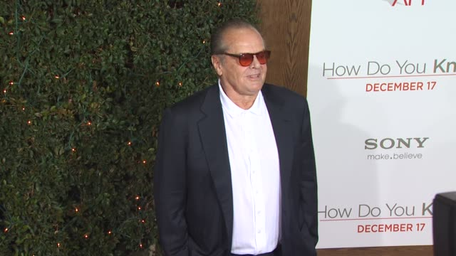 jack nicholson at the 'how do you know' premiere at los angeles ca. - jack nicholson stock videos & royalty-free footage