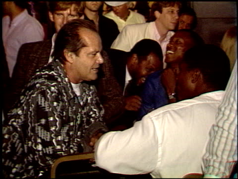 jack nicholson at the laker video 'back to back' premiere at roxy in west hollywood, california on january 1, 1988. - jack nicholson stock videos & royalty-free footage