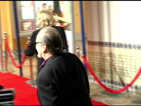 jack nicholson at the 'spanglish' premiere at the mann village theatre in westwood, california on december 9, 2004. - jack nicholson stock videos & royalty-free footage