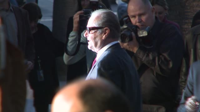 jack nicholson at the 'the bucket list' premiere at the cinerama dome at arclight cinemas in hollywood, california on december 16, 2007. - bucket list stock videos & royalty-free footage