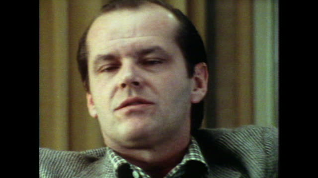 jack nicholson draws on his experiences with women whilst acting - jack nicholson stock videos & royalty-free footage