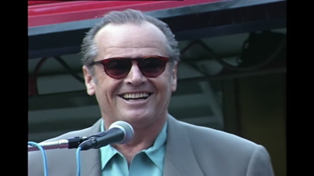 jack nicholson - hollywood walk of fame ceremony [hd] - jack nicholson stock videos & royalty-free footage
