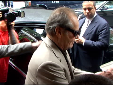 jack nicholson in new york city at the celebrity sightings in new york at new york ny. - jack nicholson stock videos & royalty-free footage