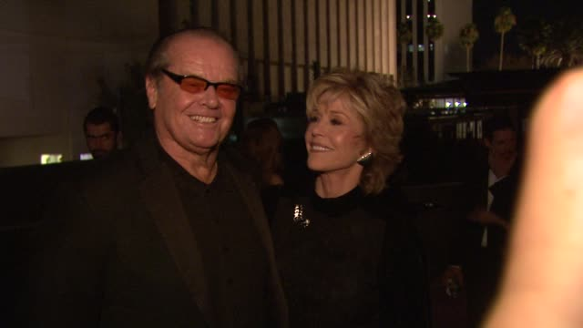jack nicholson, jane fonda at lacma hosts 2012 art + film gala honoring ed ruscha and stanley kubrick presented by gucci on 10/26/12 in los angeles,... - jack nicholson stock videos & royalty-free footage
