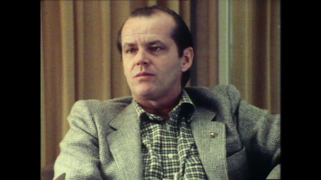 jack nicholson on acting saying 'it is an unusual choice of occupation' - jack nicholson stock videos & royalty-free footage