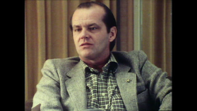 jack nicholson on being starstruck around other actors - jack nicholson stock videos & royalty-free footage