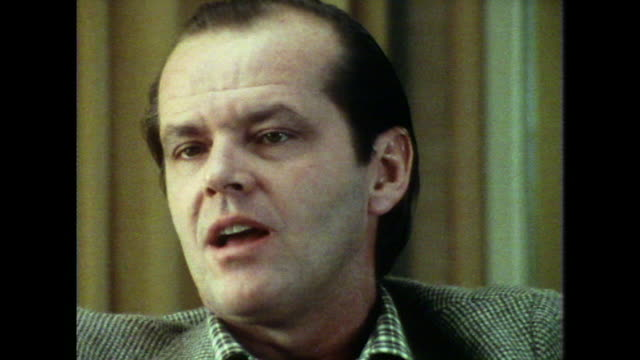 jack nicholson on his role as jonathan in the film 'carnal knowledge' saying 'it gave him a lot of trouble'' - jack nicholson stock videos & royalty-free footage