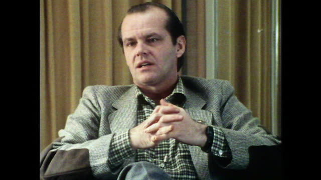 jack nicholson on not having early success and how that has influenced his later career - jack nicholson stock videos & royalty-free footage