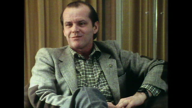 jack nicholson on passing on starring in the godfather to star in chinatown and the last detail instead - jack nicholson stock videos & royalty-free footage