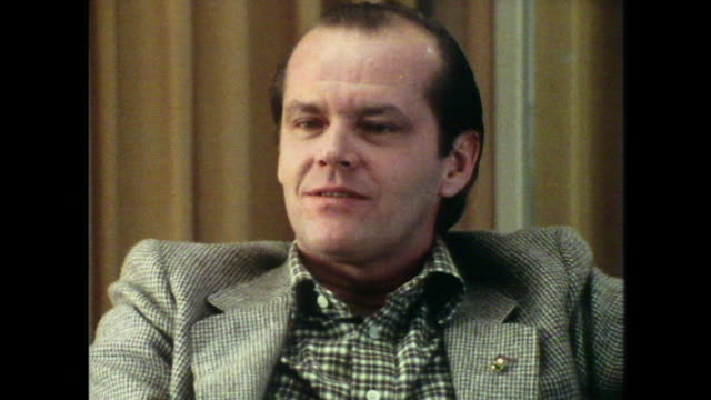 jack nicholson quotes f. scott fitzgerald saying 'it is possible to be the nicest man in the world' - jack nicholson stock videos & royalty-free footage