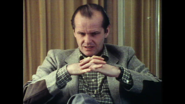 jack nicholson reflects on his earlier theatrical work - jack nicholson stock videos & royalty-free footage