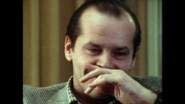 jack nicholson saying he has had 'pretty good' experiences with women - jack nicholson stock videos & royalty-free footage