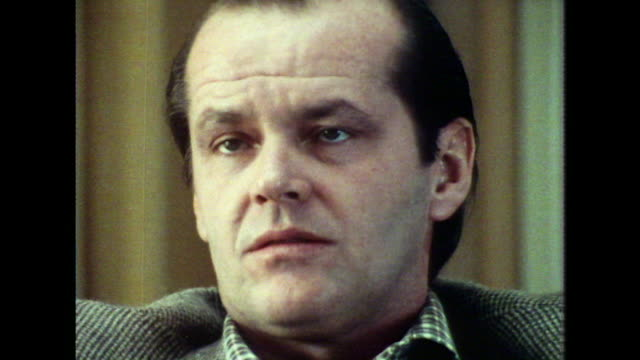 jack nicholson saying that 'i have had a fairly easy life, when you get down to it' - jack nicholson stock videos & royalty-free footage