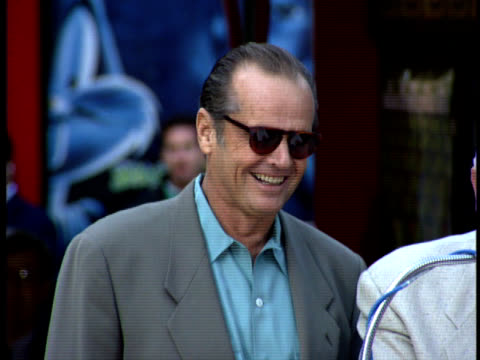 jack nicholson speaks about being excited to receive his star on the walk of fame. - jack nicholson stock videos & royalty-free footage