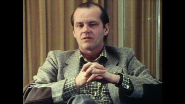 jack nicholson talks about appearing in bad films saying 'it's not bad for you' as a learning experience - jack nicholson stock videos & royalty-free footage