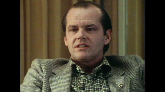 jack nicholson talks about competition in acting saying 'it's totally competitive. they're in it for the money, certain moments and the poetry of... - jack nicholson stock videos & royalty-free footage