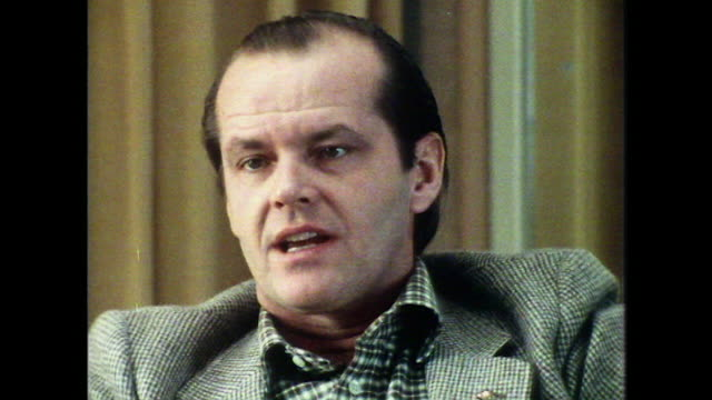 jack nicholson talks about his accent in easy rider being based on lyndon b. johnson - jack nicholson stock videos & royalty-free footage