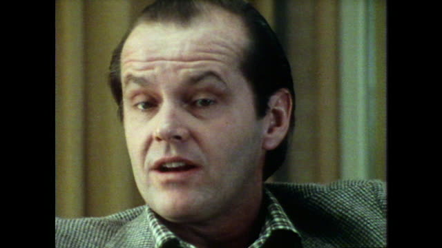 jack nicholson talks about his role in 'carnal knowledge' - jack nicholson stock videos & royalty-free footage