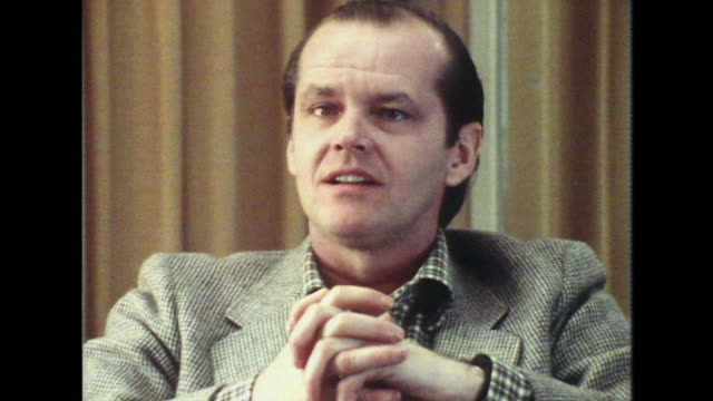 jack nicholson talks about insanity saying 'you can't play insane' core number lnfc120j - aevz001j) - jack nicholson stock videos & royalty-free footage