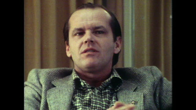 jack nicholson talks about lack of privacy in his life - jack nicholson stock videos & royalty-free footage