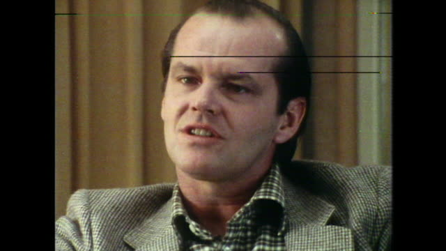 jack nicholson talks about multiple identities in schizophrenia and it's comparison with acting - jack nicholson stock videos & royalty-free footage