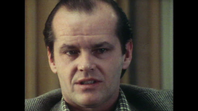 jack nicholson talks about stanley kubrick being a perfectionist - jack nicholson stock videos & royalty-free footage