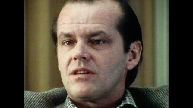 jack nicholson talks about the 'wheelchair scene' in five easy pieces saying 'it's certainly the best piece of material that i have gotten to do' - jack nicholson stock videos & royalty-free footage