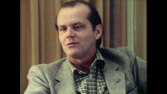 jack nicholson talks about working with the players' ring theater group in los angeles - jack nicholson stock videos & royalty-free footage