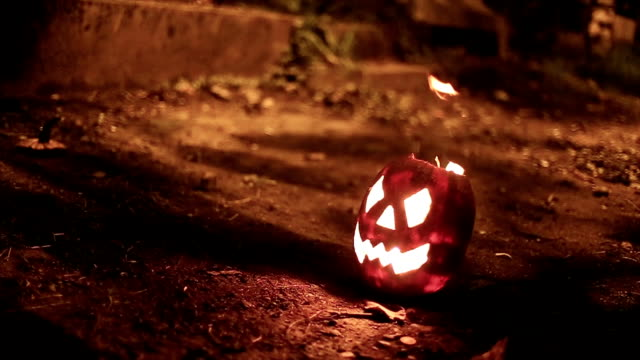 jack o lantern burning with an explosion - jack o' lantern stock videos and b-roll footage