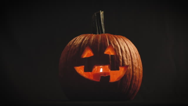 jack o' lantern in the night - jack o' lantern stock videos and b-roll footage