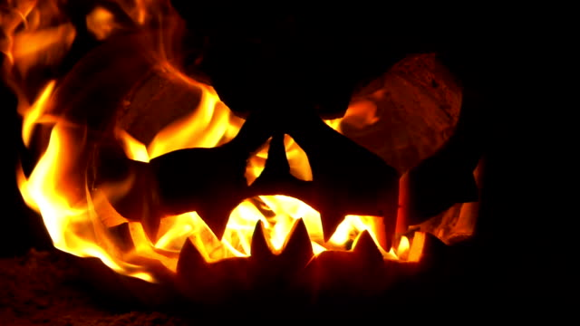jack o lantern on fire - jack o' lantern stock videos and b-roll footage