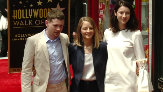 Jack O'Connell Jodie Foster and Caitriona Balfe at Jodie Foster Honored With Star On The Hollywood Walk Of Fame at Hollywood Walk Of Fame on May 04...