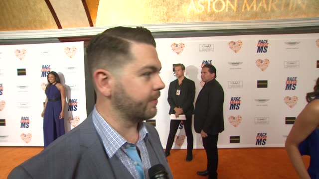 jack osbourne on being a part of the night, what he appreciates about the work nancy davis is doing, what he's most looking forward to at the 21st... - レーストゥイレースms点の映像素材/bロール