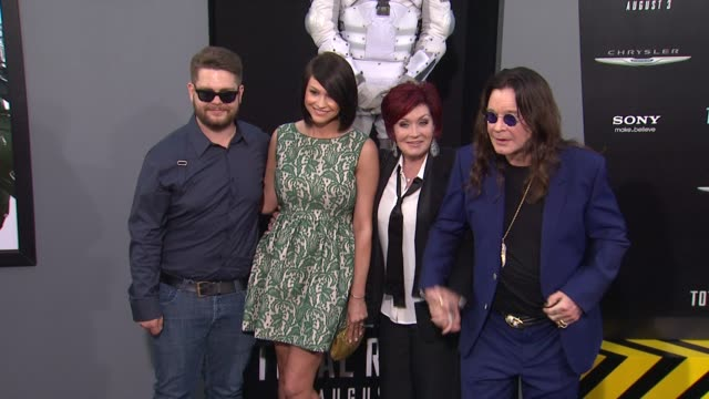 Jack Osbourne Sharon Osbourne Ozzy Osbourne at Total Recall Los Angeles Premiere on 8/1/12 in Los Angeles CA
