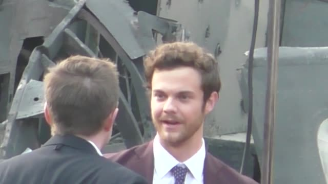 Jack Quaid arrives at the Rampage premiere at Microsoft Theater in Los Angeles in Celebrity Sightings in Los Angeles