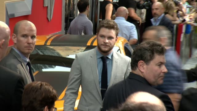 """jack reynor at """"transformers: age of extinction"""" new york premiere at ziegfeld theatre on june 25, 2014 in new york city. - new age stock videos & royalty-free footage"""